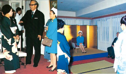 昭和47年 常陸宮妃華子殿下へ御進講