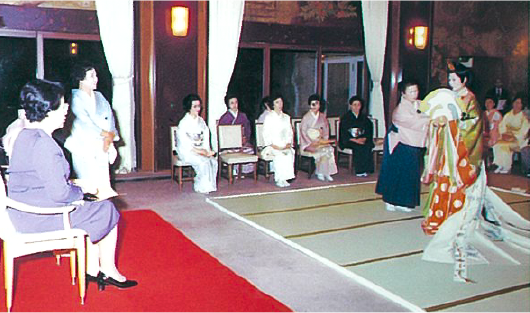 昭和57年 三笠宮妃百合子殿下へ御進講
